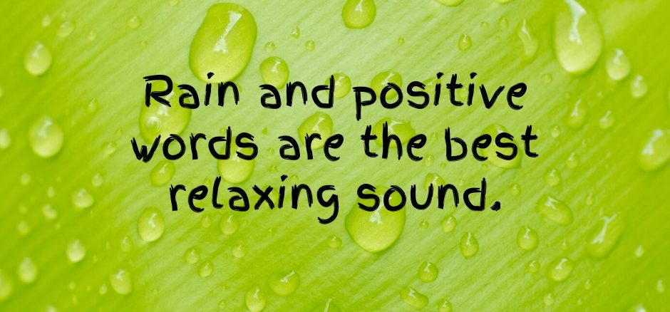 Rain and Positive Words