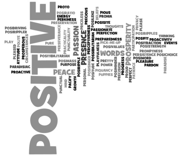 Positive words starting with letter P