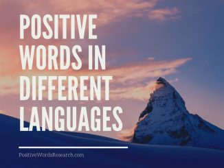 Positive Words In Different Languages
