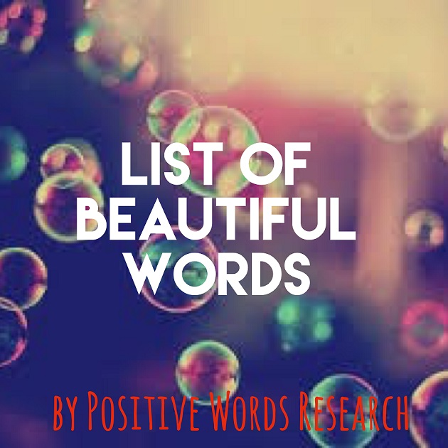 List of Beautiful Words From A to Z