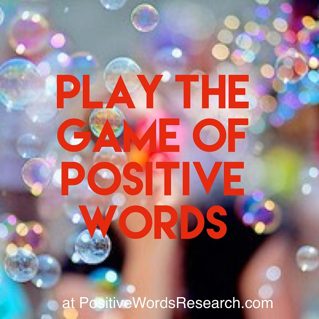 Positive Words Game
