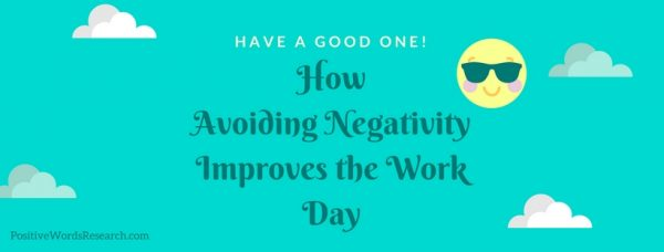 avoiding negativity