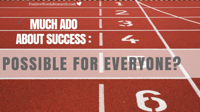 Much Ado about Success: Possible for Everyone?