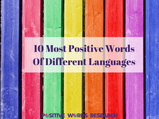 10 Most Positive Words Of Different Languages