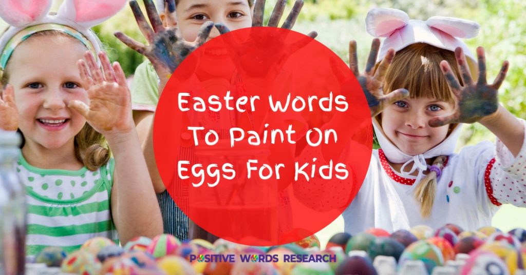 Easter Words To Paint On Eggs For Kids