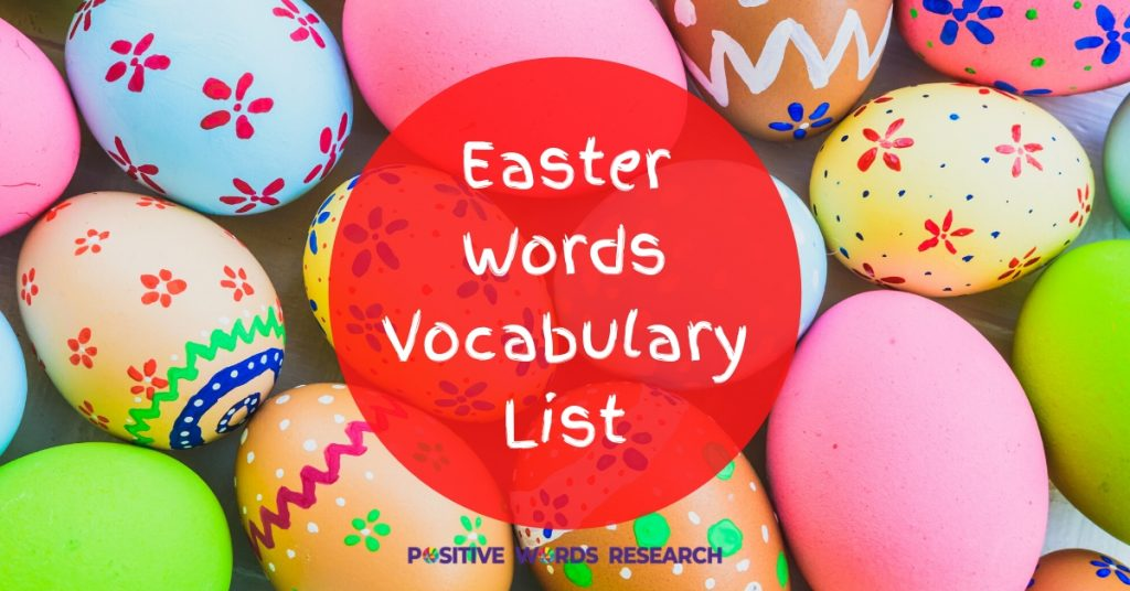 Easter Words Vocabulary List
