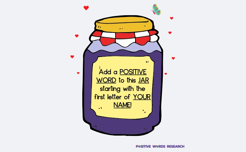The Positive Words Jar